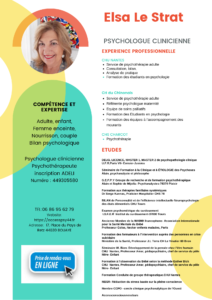 CV Elsa LE STRAT psychologue clinicienne